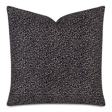 Lynx Animal Print Decorative Pillow In Onyx