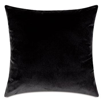 Uma Velvet Decorative Pillow In Charcoal