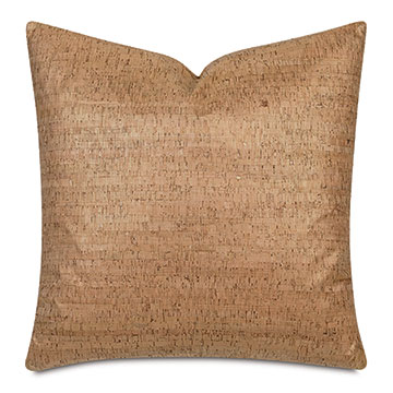 Cerris Metallic Decorative Pillow In Gold