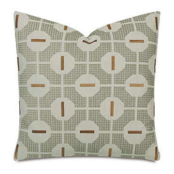 Octave Graphic Decorative Pillow In Mustard