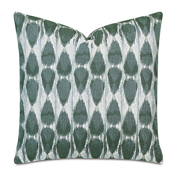 Salina Ikat Decorative Pillow In Green