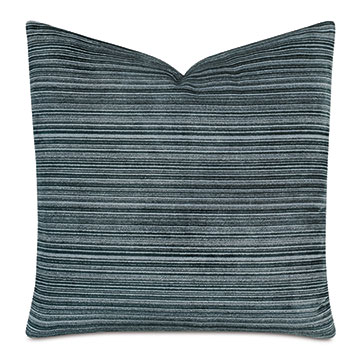 Izzy Striped Decorative Pillow In Teal