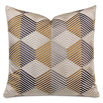Etude Zig Zag Decorative Pillow In Mustard