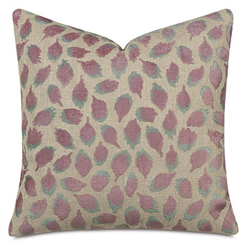Ocelot Decorative Pillow In Mauve