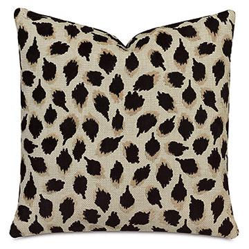 Ocelot Decorative Pillow In Black