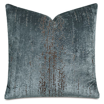 Focaccia Decorative Pillow In Light Blue