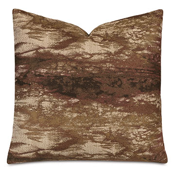 Fossil Decorative Pillow In Rust