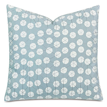 Ollie Embroidered Decorative Pillow In Spa