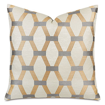 Paradigm Decorative Pillow In Gold