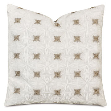 Tesseract Embroidered Decorative Pillow