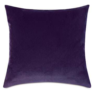 Uma Velvet Decorative Pillow In Purple