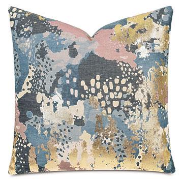 Chalamet Metallic Decorative Pillow in Dusk