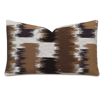 Shea Woven Decorative Pillow In Chocolate
