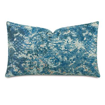 Byzantine Velvet Decorative Pillow In Lagoon