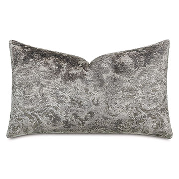 Byzantine Velvet Decorative Pillow In Slate