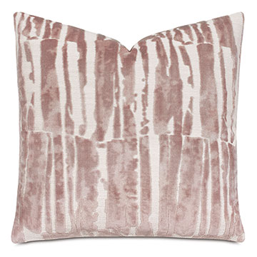 Rivia Velvet Decorative Pillow In Primrose