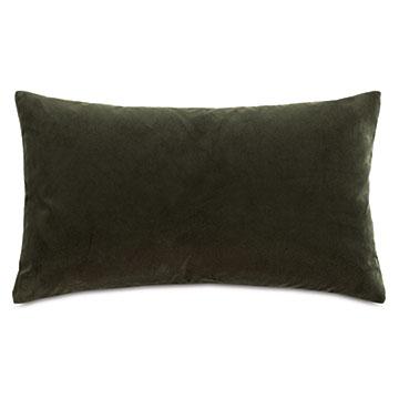 Uma Velvet Decorative Pillow In Olive Green