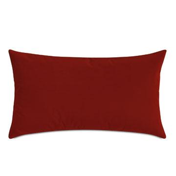 Uma Velvet Decorative Pillow In Rust