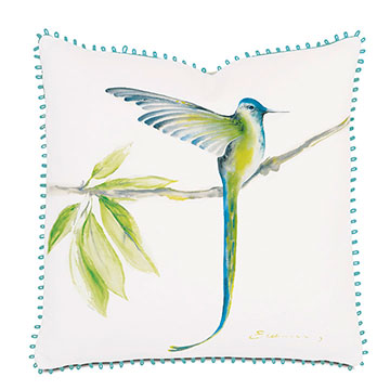 Long-Tailed Hummingbird Hand-Painted