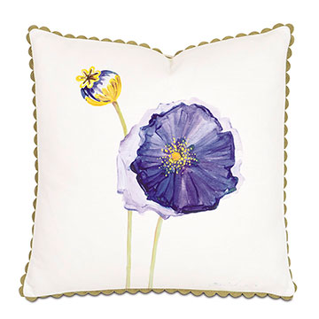 Purple Poppy Hand-Painted