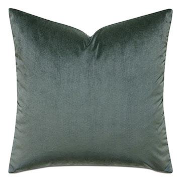 Mint Punch Velvet Accent Pillow In Dark Green