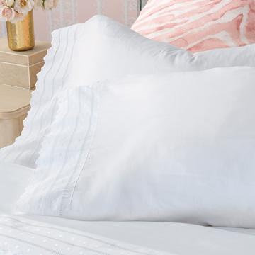 Harper White Pillowcase