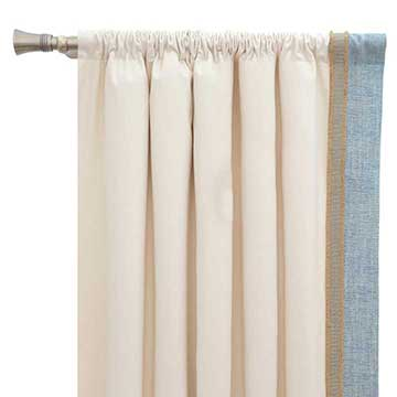 Adler Natural Curtain Panel Left