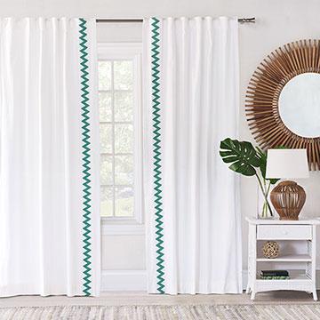 Namale Chevron Curtain Panel Left