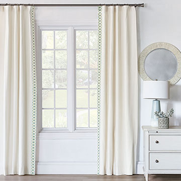 Filly White Curtain Panel Right