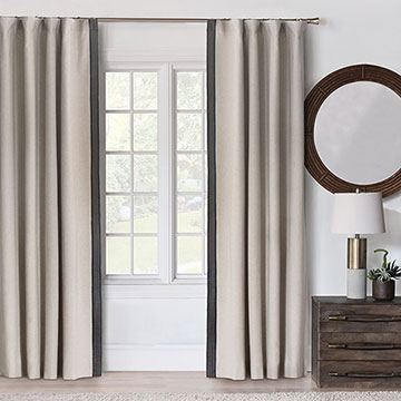 Greer Linen Curtain Panel (Right)