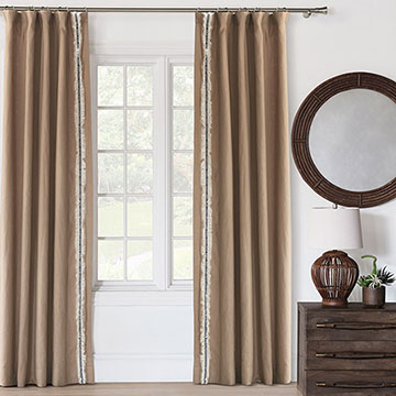 Breeze Sand Curtain Panel (Right)