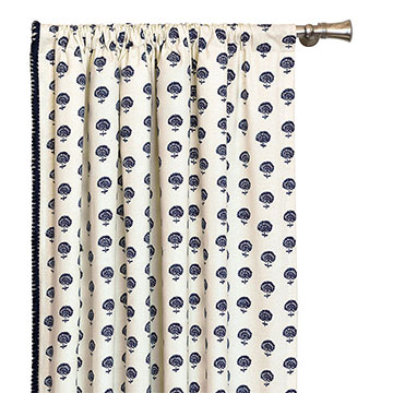 Nile Ink Curtain Panel (Right)