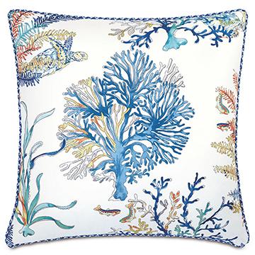 Castaway Coral Reef Decorative Pillow