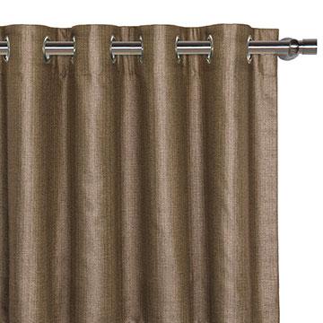 Meridian Mocha Curtain Panel