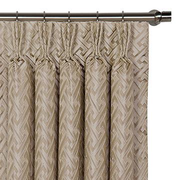 Roscoe Taupe Curtain Panel
