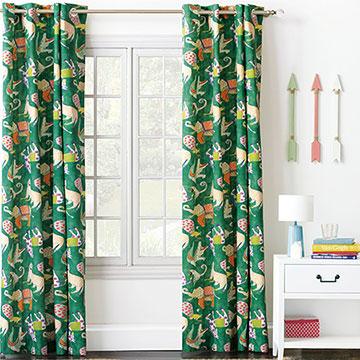 Hullabaloo Grommet Curtain Panel In Green