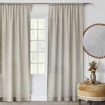 Marceau Gold Dotted Curtain Panel