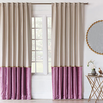 Valentina Color Block Curtain Panel