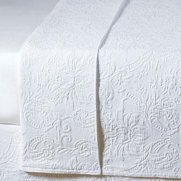 Sandrine White Coverlet