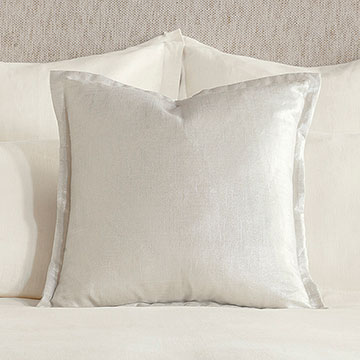 Adrienne Metallic Decorative Pillow In Frost