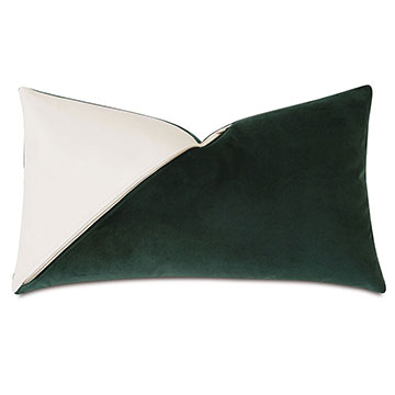 Izaro Zipper Detail Decorative Pillow (Left)