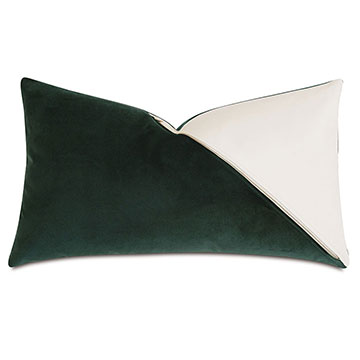 Izaro Zipper Detail Decorative Pillow (Right)