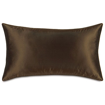 Freda Taffeta Decorative Pillow in Chocolate