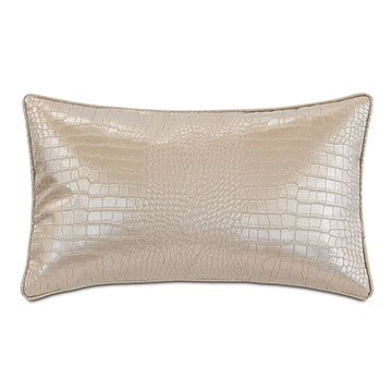 Valentina Faux Snakeskin Decorative Pillow