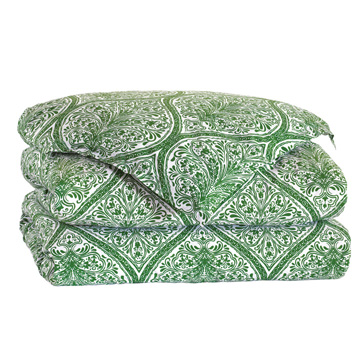Adelle Percale Duvet Cover In Grass