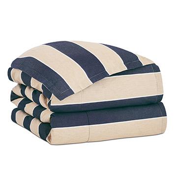 Abbot Indigo Duvet Cover and Comforter