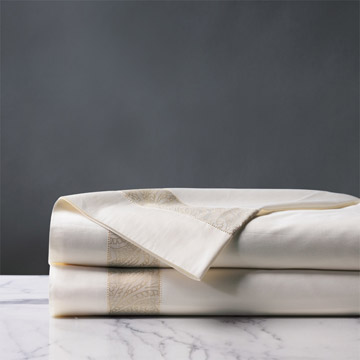 Cornice Ivory/Pearl Flat Sheet