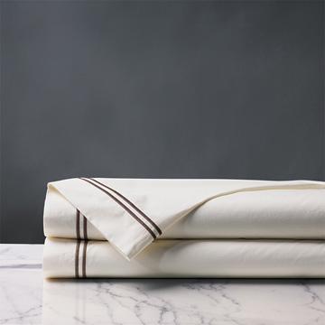 Enzo Ivory/Brown Flat Sheet