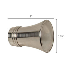 Metallo Nickel Trumpet Finial Pair