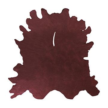 Marcella Maroon Leather Hide Full